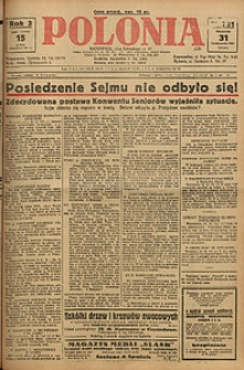 Polonia, 1926, R. 3, nr 301