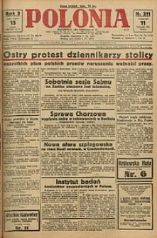 Polonia, 1926, R. 3, nr 311