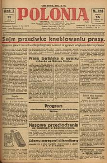 Polonia, 1926, R. 3, nr 316