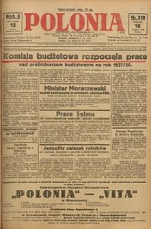 Polonia, 1926, R. 3, nr 318