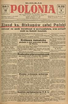 Polonia, 1926, R. 3, nr 332