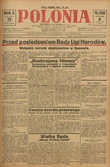 Polonia, 1926, R. 3, nr 336