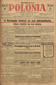 Polonia, 1926, R. 3, nr 351