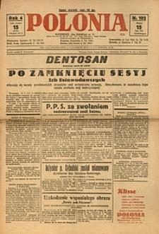 Polonia, 1927, R. 4, nr 192