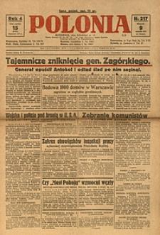Polonia, 1927, R. 4, nr 217