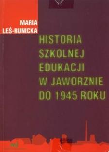 Historia szkolnej edukacji w Jaworznie do 1945 roku