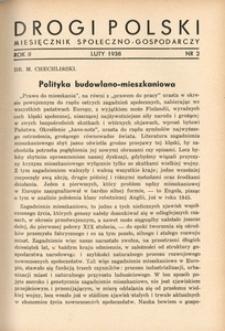 Drogi Polski. Miesięcznik społeczno-gospodarczy, 1938, R. 2, nr 2