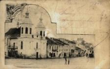 Brzeżany. Cerkiew grekokatolicka z 1810 roku w trakcie przebudowy.