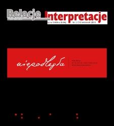 Relacje-Interpretacje, 2018, nr3 (51)