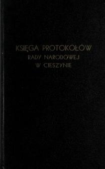 Księga protokołów Rady Narodowej w Cieszynie