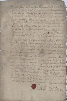 Ugoda podpisana 13.05.1674 r. pomiędzy Wacławem Jastrzembskim z Cieszyna a Kasprem Schwarzem (Schwortz) z Opawy w sprawie długu prawie 400 talarów, jakie jest winny Schwarz Jastrzembskiemu