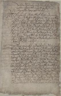 Wyciąg poświadczenia przez magistrat miasta Cieszyna umowy ślubnej zawartej 10.01.1620 pomiędzy Krzysztofem Słowikiem (Slowyk, Slawik) a Janem Górnym (Hurnym) w imieniu jego córki Agnieszki z dnia 10.12.1621 r