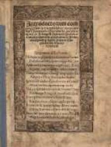Introductorium compendiosum in tractatu[m] Sphere materialis Joannis de Sacrobusto