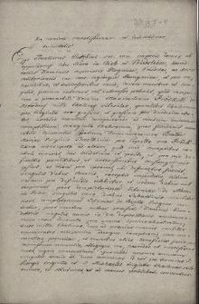 Odpis dokumentu datowanego we Frydku 29.09.1682 r., w którym baron Franciszek Euzebiusz von Oppersdorf, właściciel państwa frydeckiego potwierdza przyjęcie kwoty tysiąca talarów śląskich ufundowanej przez Maksymiliana Prökla z Proksdorfu na utrzymanie kaplicy jego rodziny przy kościele dominikanów w Cieszynie