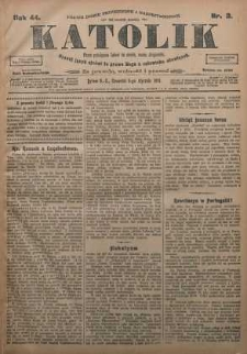 Katolik, 1911, R. 44, nr 2