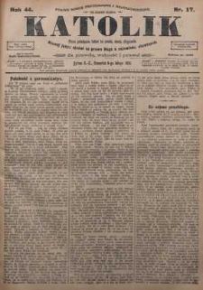 Katolik, 1911, R. 44, nr 17