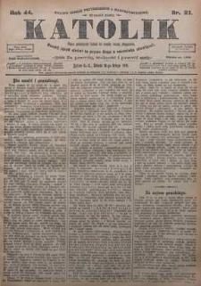 Katolik, 1911, R. 44, nr 21