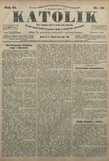 Katolik, 1911, R. 44, nr 58