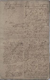 Relacja albo opinia z 22.11.1780 r. skierowana do urzędu biskupiego (zapewne we Wrocławiu), głównie na temat zgromadzeń zakonnych, m.in. dominikanów (w Cieszynie?)