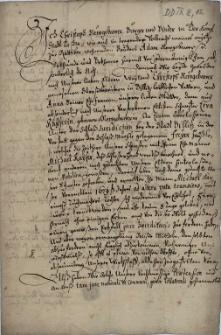 Krzysztof Neugebauer (Newgebawer), bednarz z Cieszyna, w imieniu swego brata Adama Neugebauera z Raciborza ceduje 1.10.1680 r. cieszyńskim jezuitom prawa do należnego im po ojcu Krzysztofie wolnego domku koło młyna zamkowego w Bielsku