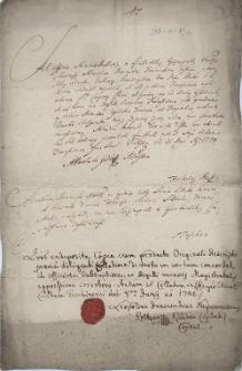 Odpis reskryptu administracji biskupa wrocławskiego do cieszyńskiego dziekana Franciszka Antoniego Świdra z 31.05.1740 r., iż zezwala się cieszyńskim jezuitom na organizowanie procesji w oktawę święta Bożego Ciała