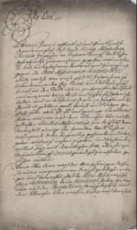 Decyzja cesarza Karola VI z 14.09.1712 r. zezwalająca cieszyńskim jezuitom przyjąć darowane przez Marię Magdalenę Jagosz pole, wraz z załącznikami