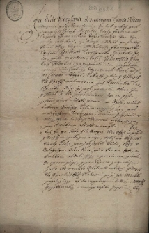 Zobowiązanie Anny Keller z Cieszyna z 22.04.1690 r., iż będzie wypłacać cieszyńskiej rezydencji jezuitów procenty należne od kwoty 100 zł reńskich, zapisanych im przez jej syna magistra Jerzego Ferdynanda Trchalę, SJ