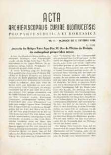Acta Archiepiscopalis Curiae Olomucensis pro parte Sudetica et Borussica 1942, nr 11.
