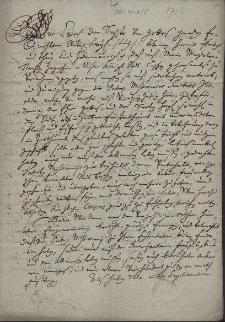 Odpis reskryptu cesarza Karola VI z 14.09.1712 zezwalającego Marii Magdalenie Jagosz na darowanie pola rezydencji jezuitów w Cieszynie