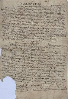 Odpis pisma papieża Klemensa XII z 8.07.1737 i innych autorów w sprawie obchodów święta św. Franciszka Ksawerego w kościołach klasztornych