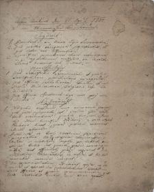 Erster Konkurs den 22. April 1784. im Wiennerischen Konsistorium