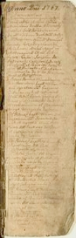 Księga metrykalna chrztów kościoła parafialnego w Siewierzu. Wpisy za lata 1767-1794