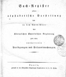 Amts-Blatt der Königlichen Oppelnschen Regierung pro 1824, 9. Bd.