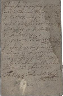 Książeczka opłat podatkowych panny Marii Magdaleny Jagosz od posiadanego przez nią ogrodu na Bobrku z l. 1747-1751