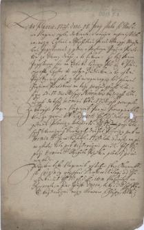 Odpis aktu najmu pola na Bobrku Jerzemu Pientkowi przez pannę Marię Magdalenę Jagosz z 18.06.1735 r.
