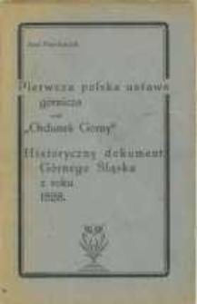 """Pierwsza polska ustawa górnicza czyli """"Ordunek Gorny"""""""