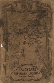 Powieściowy Kalendarz Republiki Ludowej na Rok 1921
