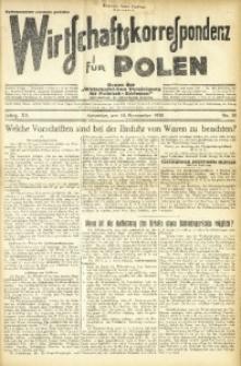 Wirtschaftskorrespondenz für Polen, 1938, Jg. 15, nr 31