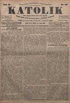 Katolik, 1908, R. 41, nr 29