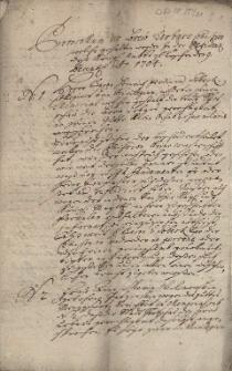 Protokollum der Brew Urbars Commission welche gehalten worden in der Residenz des Königl[ichen] Ambts zu Teschen den 9. Decemb. A[nn]o 1704