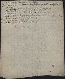 Brudnopis notatek dotyczących lat 1761-1765