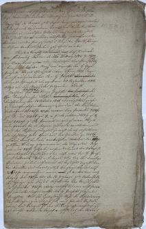 Brudnopis notatek na temat konwiktu hr. Tęczyńskiego oraz kościoła gimnazjalnego św. Krzyża, sporządzonych dla potrzeb magistratu w Cieszynie
