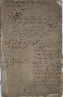 Quaestiones welche Herr Ephraim Ignatius Naso, J[uris] V[triusque] D[octor] Advocatus Juratus Suidnisensis auff dem Rathhauß zu Teschen den 22sten May Anno 1663 proponiret, und darüber eine schriftliche Resolution und außführl. Information begehret hat