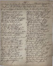 Text zur Trauer Musik bey dem Leichenbegängniß Ihro K.K. Apostolischen May'est[ät] in der Gnadenkirche Aug[ustanae] Conf[essionis] vor Teschen am 31 Xbris 1780