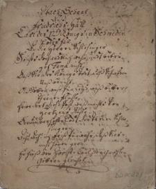 Utwory rymowane upamiętniające śmierć króla Szwecji Karola XII w dniu 11.12.1718 r.