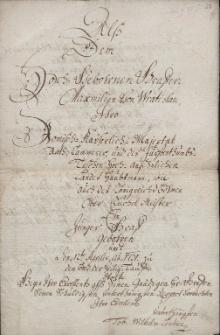 Panegiryk skierowany do starosty ziemskiego księstwa cieszyńskiego hrabiego [Wratislawa] Maksymiliana Wratislaw von Mitrowitz z okazji chrzcin jego syna w dniu 12.04.1731 r.