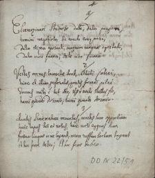 """Utwór wierszowany składający się z 5 zwrotek, zaczynający się od słów """"Eleemozinam studioso date, date paupere"""""""