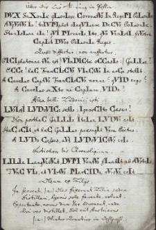 Siedem wierszy w języku łacińskim z chronostychami