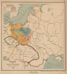Polska przez Bolesława Krzywoustego między synów podzielona. r. 1138