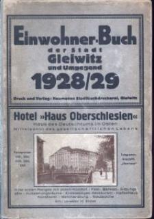 Einwohner-Buch der Stadt Gleiwitz einschl. der Ortsteile Ellguth-Zabrze Richtersdorf, Sosnitza und Zernik 1928/29
